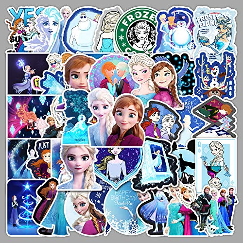 WWLL 50 Frozen Graffiti Stickers Luggage Tablet PC Scooter Car Decoration Stickers