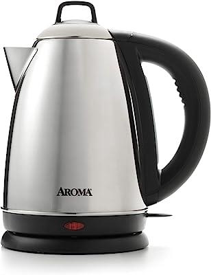 Aroma Housewares–Hot H20X-Press 1.5litre (6tazas) eléctrica inalámbrica hervidor de agua, acero inoxidable