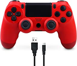 Wireless Controller Compatible with PS4, Game Controller for Playstation 4 Built-in Speaker six-axis Gyro and Dual Vibrati...