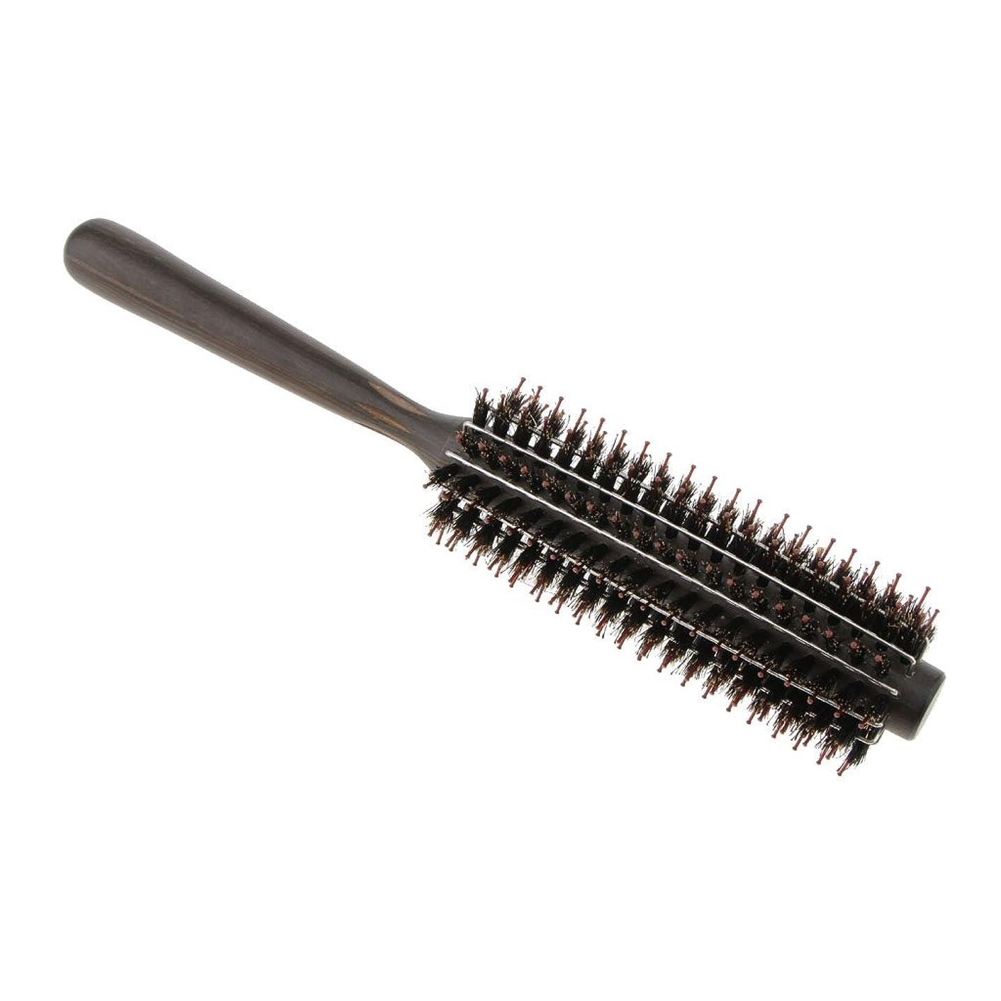 バブル安心悲しむPerfk ロールブラシ ヘアブラシ カール 巻き髪  ヘアコーム 3サイズ選べる  - M