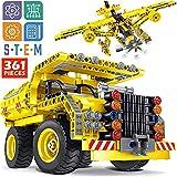 STEM Toy Building Sets for Boys 8-12 - 361 Pcs Construction Engineering Kit Builds Dump Truck or...