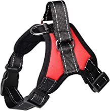 WBFVAY Ajustable No Pull Dog Harness Soft Acolchado Walking Training Assistance Chest Red