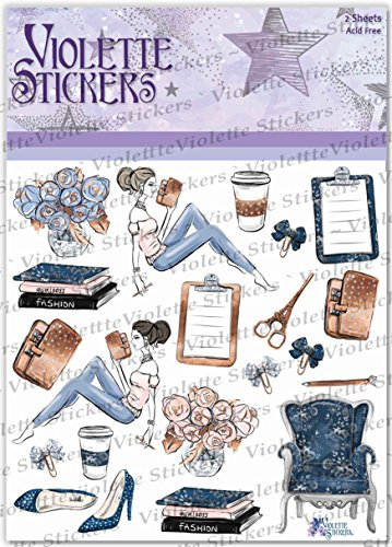 Violette Stickers Planner Girl Planner Suite - 3 sheets Photo #2