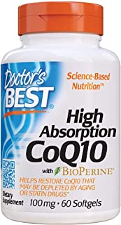 Doctor's Best High Absorption CoQ10 with BioPerine, Gluten Free, Naturally Fermented, Heart Health & Energy Production, 10...