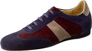 Werner Kern Uomini Sneaker da Ballo/Scarpe da Ballo 28061 - Colore: Blu - Made in Italy