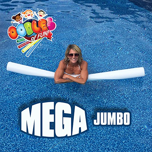 Oodles of Noodles MEGA Jumbo Approx 6 Foot x 5 Inch Biggest Pool Noodle Ever Multi-Purpose White