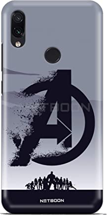 NETBOON Avengers Printed Hard Case Back Cover for Xiaomi Redmi Note 7/7 Pro Shock Proof Matte Finish Texture Shell