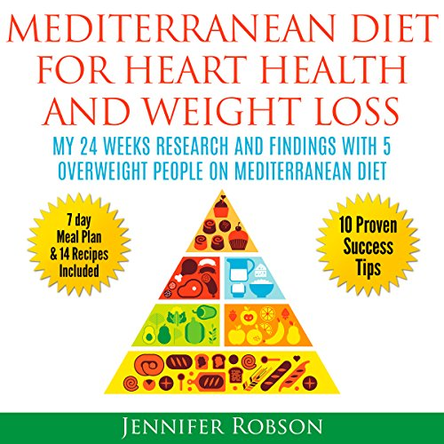 Mediterranean Diet for Heart Health and Weight Loss audiobook cover art