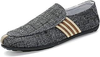 Chaussures Casual pour Hommes - Respirant - Motif à Rayures en Lin - Espadrilles - Espadrilles Mocassins