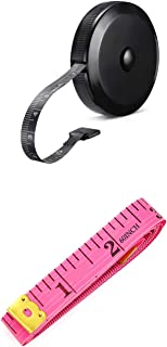 2 Pack Soft Tape Measure Retractable Measuring forBody Fabric Sewing Tailor Cloth Knitting Craft Weight LossMeasurements...