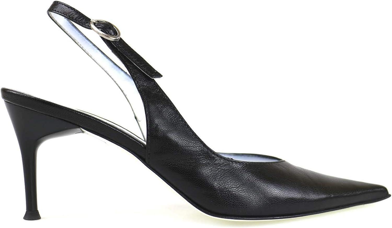 IL GRECO Pumps-shoes Womens Leather Black 6 US