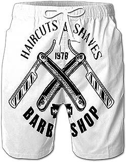 Summer Shorts Pants Pisces Gold Glitter Zodiac Sign Swim Trunks Stripe Casual Swim Shorts