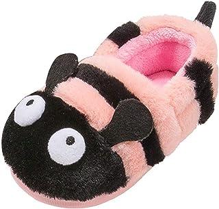 Toddler Kids Girls Boys Cute Winter House Shoes Cartoon Animal Soft Warm Plush Lining Non-Slip Slippers