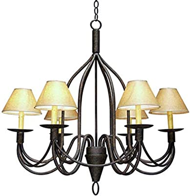 Meyda 115263 Six Light Chandelier from Bell Collection, 34.00 inches