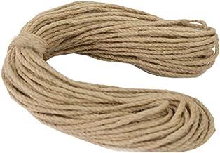 100% Natural Hemp Rope (5mm),50 Meters(164 ft) for Arts Crafts DIY Decoration