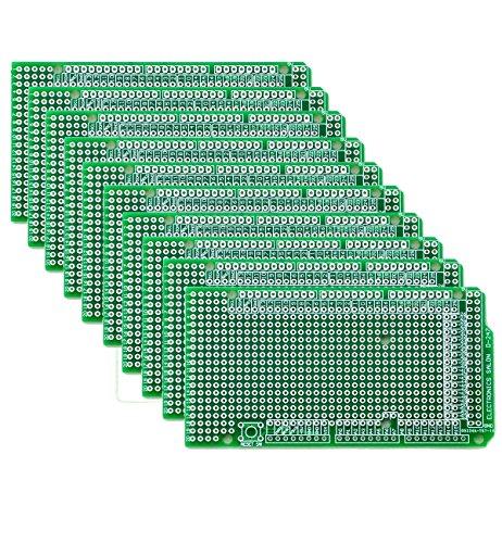 Electronics-Salon 10x Prototype PCB for Arduino Mega 2560 R3 Shield Board DIY