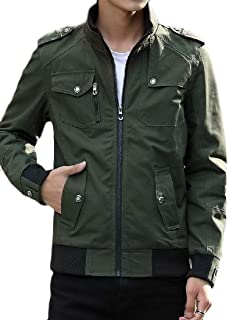 Howme-Men Outwear Windbreakers Autumn Stand Collar Military Jackets