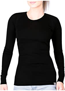 MERIWOOL Womens Merino Wool Lightweight Form Fit Baselayer Pullover Top