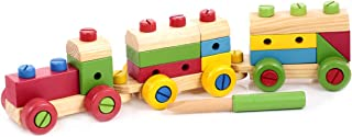 Canoe Wooden Nut Combination Train Toy - CT181216RJ13