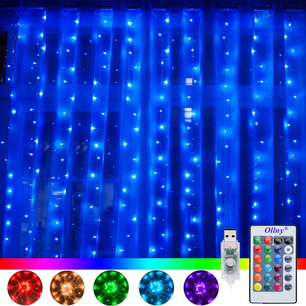 Ollny Curtain Powered Control Decorations