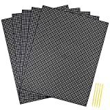 Pllieay 5 Pieces 7 Count Plastic Mesh Canvas Sheets for Embroidery, Acrylic Yarn Crafting, Knit and Crochet Projects (10.2 x 13.2 inch, Come with 4 Pieces Weaving Needles, Black)