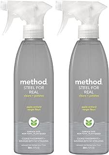 Method Steel For Real, Cleaner & Polish - 12 oz - Apple Orchard - 2 pk