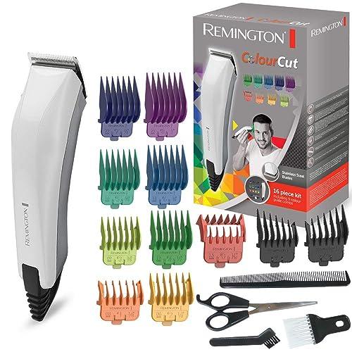 Remington HC5035 Haarschneider ColourCut, 9 farbige Aufsteckkämme, hochwertige, selbstschärfende Edelstahlklingen, weiß
