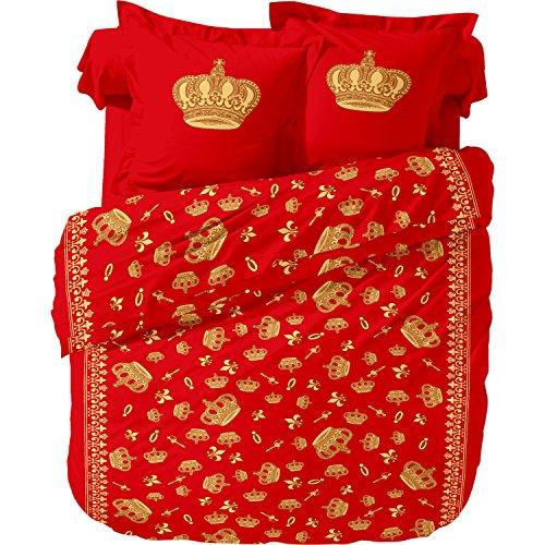 Superbetten-321 2 teilige, 4-Jahreszeiten Microfaser-Bettwäsche König Red, 135x200 cm, OVP