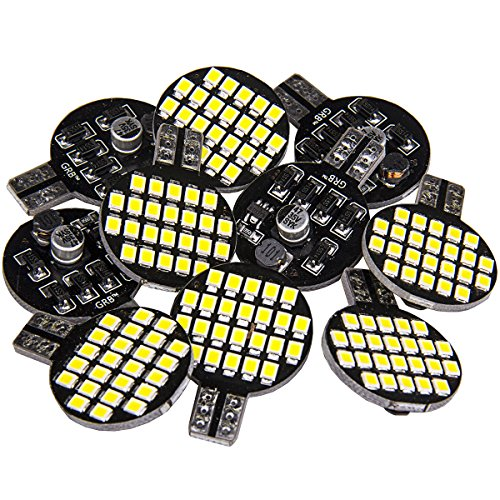 10x Super Bright 921 194 T10 LED Bulb, Pure White 12V 24-SMD Wedge Lamp For Boat 5th Wheel and Other RV Trailer Camper Interior Light (Pack of 10)
