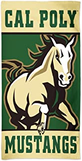 WinCraft California Polytechnic State University Cal Poly Mustangs Premium Beach Towel, 30 x 60 inches