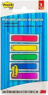 Marcador de Página Adesivo, Post-it® Flags Setas, 5 Cores Sortidas, 11,9 mm x 43,2 mm, 100 folhas
