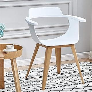 QFWM Sillas de Comedor Inicio Silla Moderna Simple Silla de Comedor for la Sala de Estar y Comedor Cocina Comedor Muebles (Color : White, Size : 50x77x44cm)