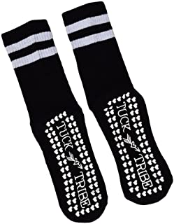 Life By Lexie Tuck Tribe Sticky Grip Socks for Barre, Pilates, Yoga (Crew),Black,One Size Fits All