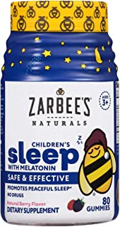 Zarbee's Naturals Children's Sleep with Melatonin Gummy Supplement, Berry Gummies, 80 Count (Pack of 1)