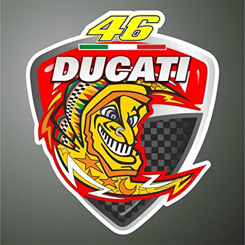 Graphic-lab Aufkleber - Sticker 46 Valentino Rossi Ducati Moto GP Superbike Sticker