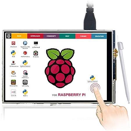 ELECROW 3.5インチ モバイルモニター Raspberry Pi用 3.5インチ モニター タッチパネルモニター TFT LCD ディスプレイ ポータブルモニター 480*320 小型液晶モニター Raspberry Pi 4B 3B+ 3B 2B 対応 ゲームモニター 安心保証1年付き