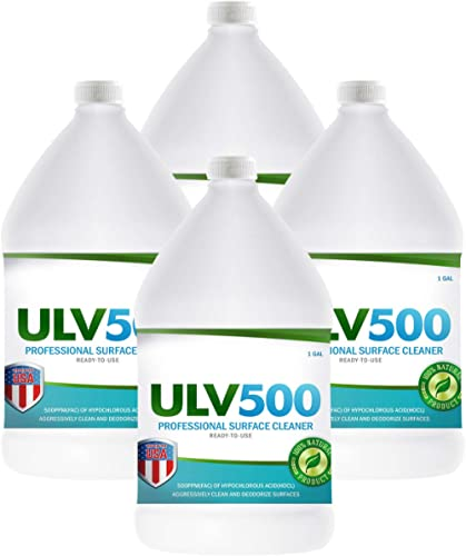 Hypochlorous Acid ULV500 500PPM (4-Gallons) For ULV Foggers, For Dental And Medical Professionals, All Natural HOCL P...