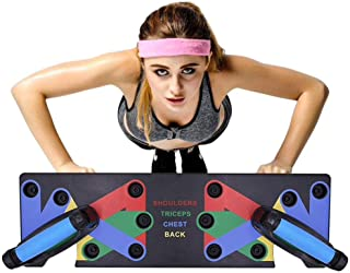 SMYX 9 in 1 Body Building Pushup Stands Board Push-up Support for Unisex Fitness Equipment in Home Practice Chest Muscle & Arm Muscle Upper Body Muscle Fitness Multi-Function Push-ups Board