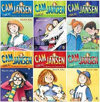 Cam Jansen 6 Book Set Mystery of the UFO Television Dog Babe Ruth Stolen Diamonds Dinosaur Bones Gold Coins