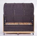 3-Sitzer Strandkorb Kampen Mocca - 7