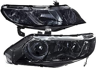 For 06-11 Honda Civic 4 Door Smoke Pair Headlights Headlamps HeadLamps Clear Corner Reflector