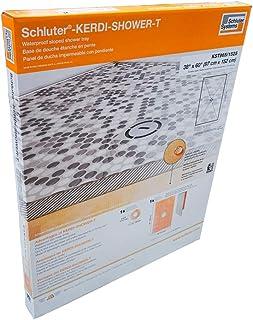 "Schluter Kerdi 38"" x 60"" Shower Tray Center Drain Placement 1-1/8"" Perimeter Height"