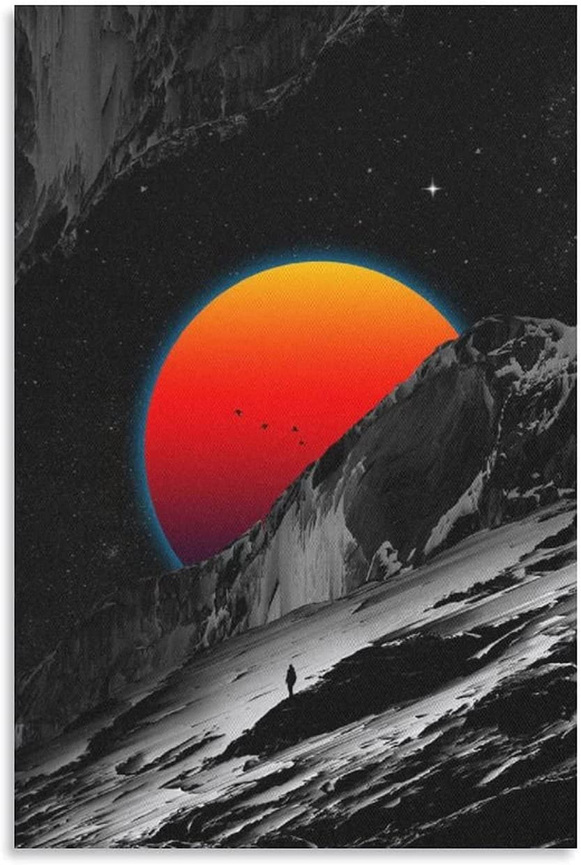 Sunset Selling at The Bottom of Painting Slope Popular product Prints Nordic Decorat