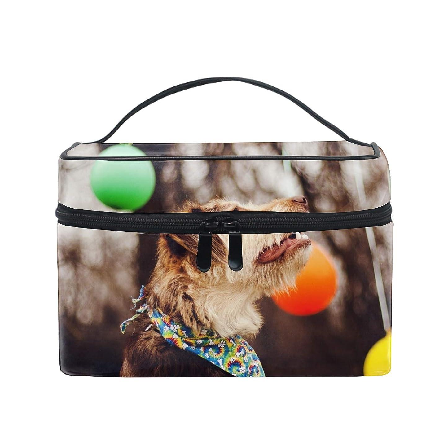 エッセイ庭園比喩化粧ポーチ 大容量 かわいい おしゃれ 機能的 収納ケース 高品質動物の犬