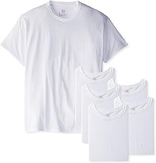 Hanes Men's 6-Pack FreshIQ Crew T-Shirt (3X-Large (54-56), White)