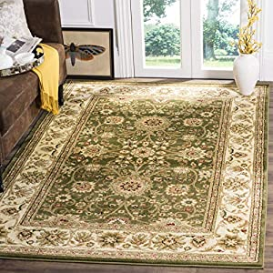 Safavieh Lyndhurst Collection LNH212C Traditional Oriental Non-Shedding Stain Resistant Living Room Bedroom Area Rug, 9′ x 12′, Sage / Ivory