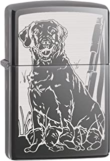 Zippo Custom Lighter: Hunting Dog with Ducks - Black Ice 78807