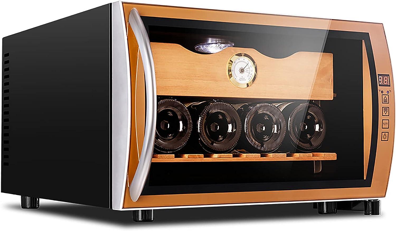 Mini Vinoteca Nevera vinos Nevera Termoeléctrico para Bodega de Vino de Encimera Pequeña para Dormitorio Oficina Cocina 4 Botellas