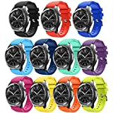Smart Watch Band Compatible with Samsung Gear S3 Frontier/Classic/Galaxy Watch 46MM,11- Pack HMJ Band 22mm Soft Replacement Sport Bracelet Strap for Gear S3 Frontier/Classic/Moto 360 2 2nd Men