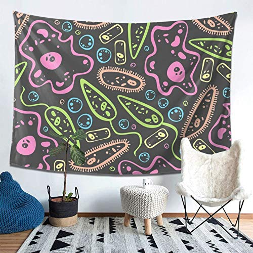 MHFJFZE Under The Microscope Tapestry Wall Hanging Wall Blanket Wall Tapestries Art Nature Home Decorations for Living Room Bedroom Dorm Decor 60x80 Inches